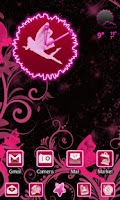 Screenshot of Fairy Pink Go Launcher EX