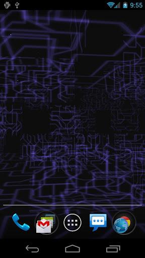 Tech Paper 3D Live Wallpaper