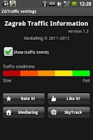 Screenshot of Zagreb Traffic Information