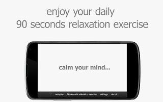 Screenshot of the quiet place relax & sleep
