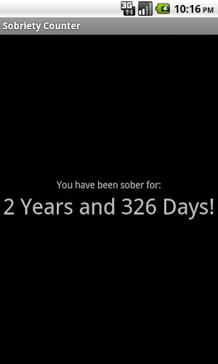 Sobriety Counter