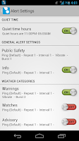 Screenshot of ping4alerts!