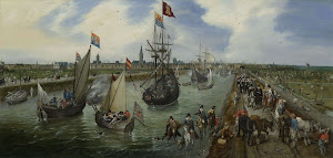 RIJKS: Adriaen Pietersz. van de Venne: The Departure of a Dignitary from Middelburg 1615