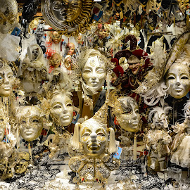Venetian Carnival Masks by Nick M - Artistic Objects Clothing & Accessories ( carnival, masks, venice, mask, festival, venetian )