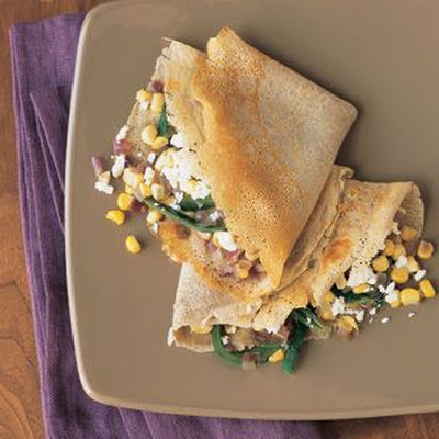 Buckwheat Crepes with Corn and Roasted Poblano Chilies