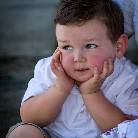 Lets Get On WIth This..... by Tom Reiman - Babies & Children Children Candids ( photo session, boy,  )