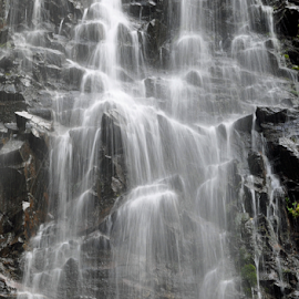 Falling Water by Keith Sutherland - Nature Up Close Water ( water, waterfall, rock, falling, natural, misty )