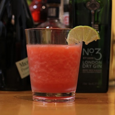 Strawberry, Gin, Campari and Lime Slushito