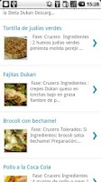 Screenshot of Recetas Dukan
