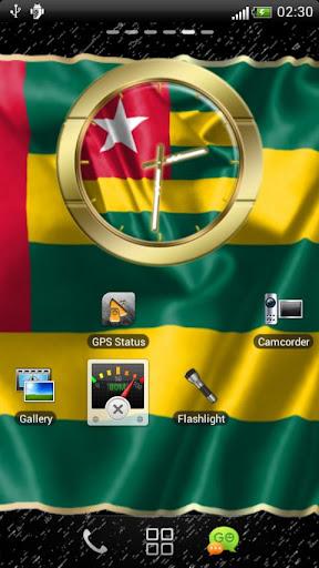 Togo flag clocks