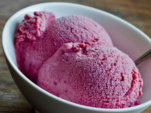 Roasted Plum, Ginger, and Honey Ice Cream