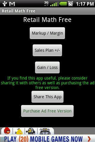 Retail Math Free
