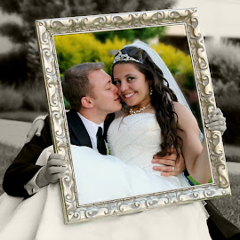 Framed in Love by Beth Milam - Wedding Bride & Groom