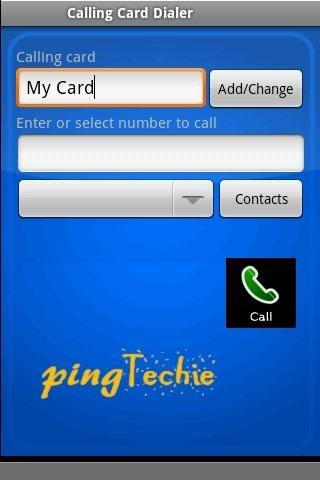 Simple Calling Card Dialer