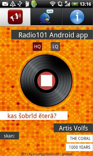 Radio101 Android app
