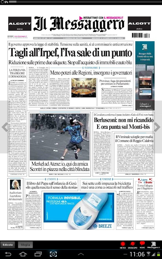 Il Messaggero Digital Screenshot 0