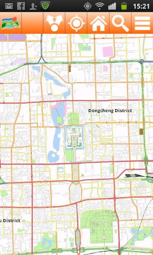 Beijing Offline mappa Map