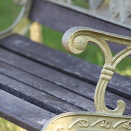 Garden Bench by Nagesh Prabhu - Artistic Objects Furniture ( garden bench, bench, bench closeup, old bench )