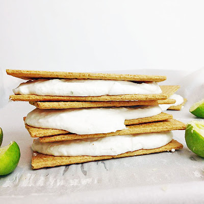 Frozen Key Lime Cheesecake Sandwiches