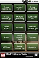Screenshot of Army soundboard
