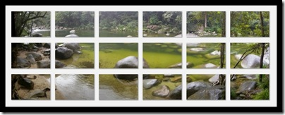 Mossman Gorge collage (my largest multi-image collage todate)