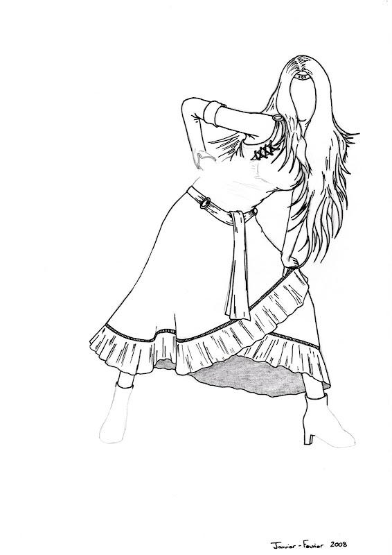 Femme en robe, WIP avancé