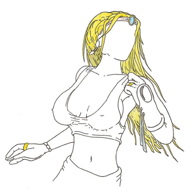 Dessin de buste de femme