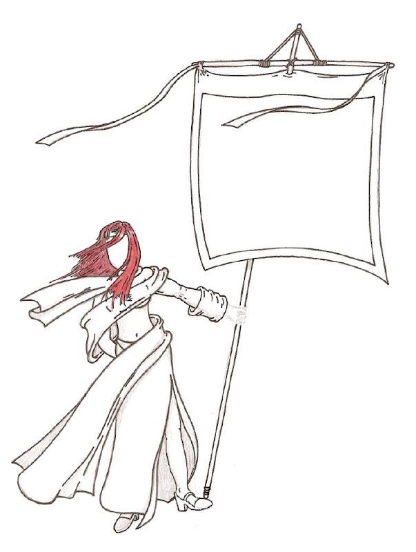 Femme porte-étendard