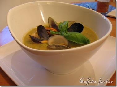 zuppa di trio di vongole e zucchini (4)