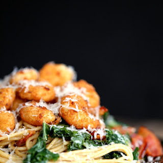 Shrimp, Bacon and Kale Parmesan Pasta