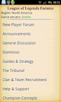 Screenshot of League of Legends Forums