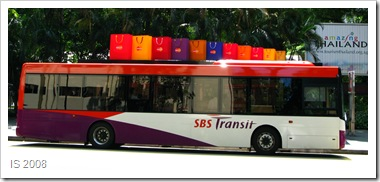 SMRT bus and Shopping Bag