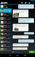 Screenshot of mysms - Dark Theme for Tablet