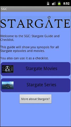 Stargate Guide Checklist