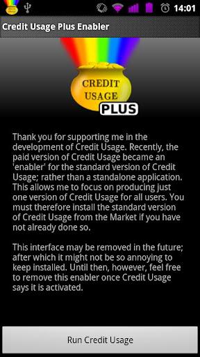 Credit Usage Plus Enabler