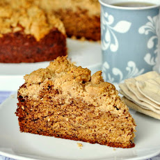 Walnut Crumble Banana Coffee Cake