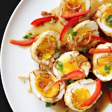 Son-in-Law Eggs: Thai Fried Hard-Boiled Eggs in Tamarind Sauce