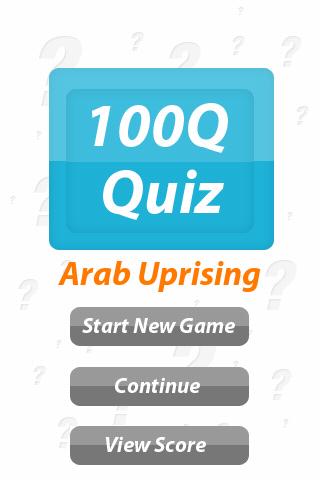 Arab Uprising - 100Q Quiz