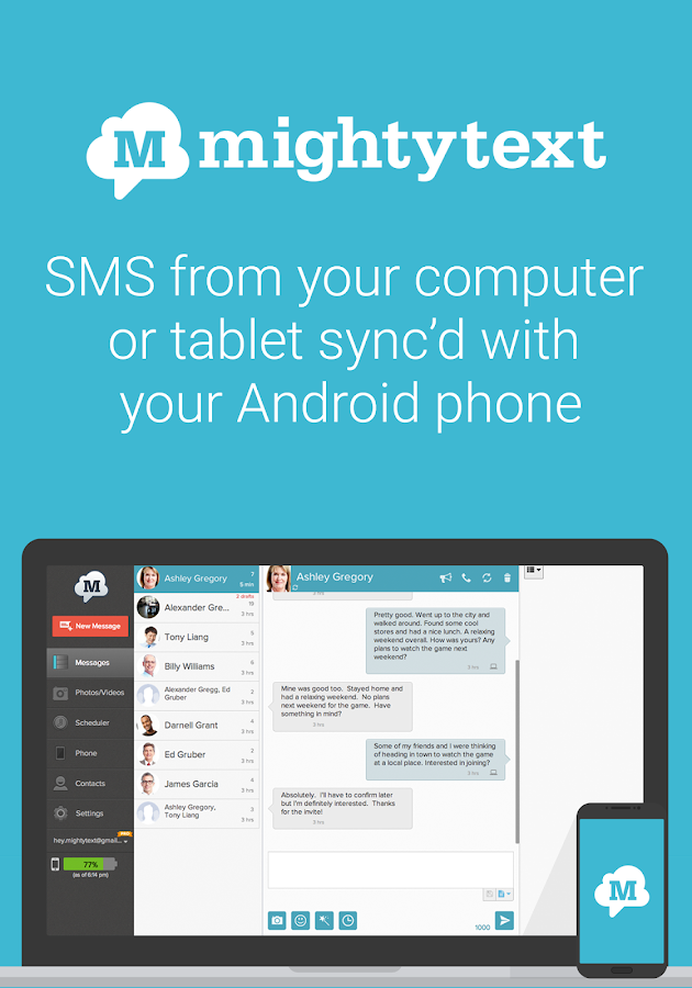 Sms text messaging pc texting android apps on google play