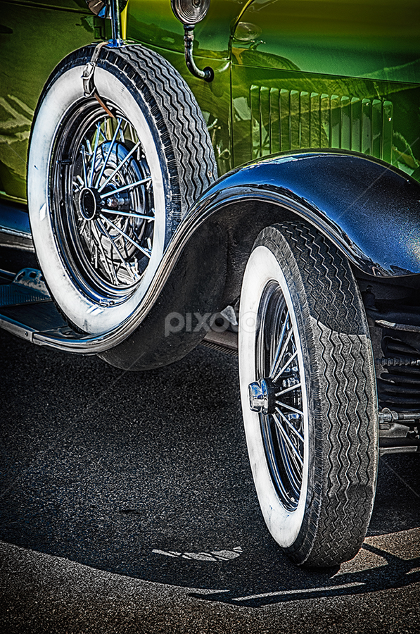 Old car by MIhail Syarov - Transportation Automobiles ( car, old, wheel, blue, green, automobile, retro, tire,  )