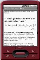Screenshot of Panduan Solat Jamak Qasar