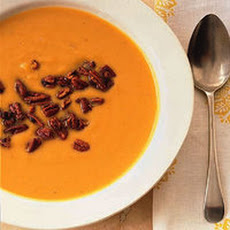 Butternut Squash Soup with Sweet and Spicy Pecans