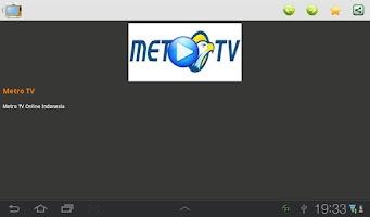 Screenshot of TV Indonesia Online