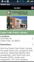 Screenshot of Cedar Falls Public Library