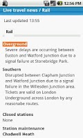 Screenshot of London Travel Updates Live