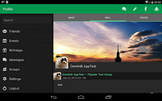 Screenshot of Flipster for Facebook