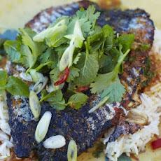 Crispy-skinned mackerel with Asian-inspired dressing
