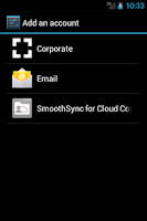 Screenshot of SmoothSync for Cloud Contacts