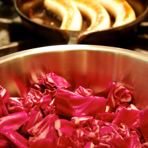 Sautéed Red Cabbage with Onions, Garlic, and Anchovy