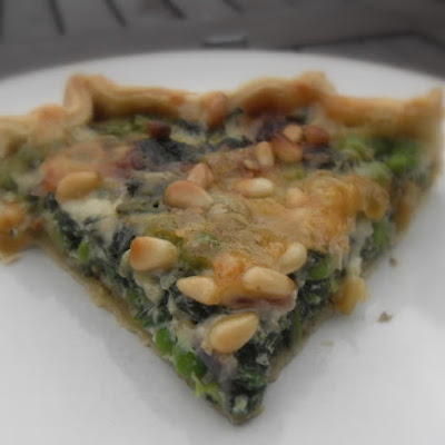 English Pea, Spinach and Gruyere Tart